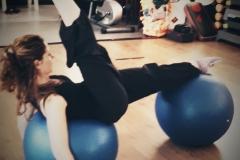 Esercizi con fitball